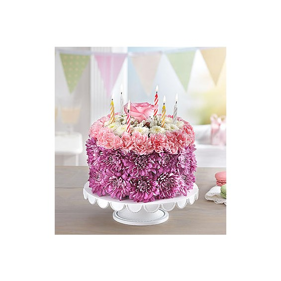 Birthday-Wishes-Flower-Cake-Pastel